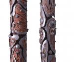 Pilastri del Cielo (particolare) - 2001-2011 Cartapesta e pigmenti cm. h 350 Ø  18