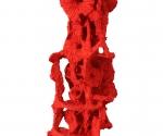 Pilastro del Cielo (particolare) - 2003 Cartapesta e pigmenti cm. h 350 Ø 80 base