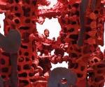 Pilastro del Cielo (particolare) - 2003 Cartapesta e pigmenti cm. h 350 Ø 60