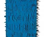 Omaggio alla Scrittura (particolare) - 2000 Cartapesta cm. h 240 x 30 x 7
