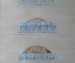 Studi per Sole Nascente - 1996 Tecnica mista cm. 50 x 70