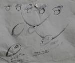 Studi per Anelli e Pendentif - 2000 Matita cm. 28 x 36