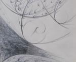 Tracce Spaziali - 1992 Matita cm. 12 x 12