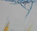 Quarto di Luna - 1985 Acquerello cm. 29 x 21