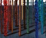 Installazione Foresta - 2001-2011 Cartapesta, pigmenti e metallo cm. 350 Ø da 7 a 60