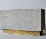 Altare (bozzetto) - 1992 Cemento e foglia d\'oro cm. h 22 x 40 x 18