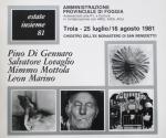 Catalogo della Mostra Estate Insieme 1981, Troia 1981