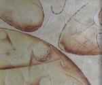 Tracce spaziali - 1992 Cartapesta cm. 30 x 30 x 0,5