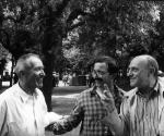 1988 Biennale di Venezia da sin. Alik Cavaliere Pino Di Gennaro Arnaldo Pomodoro