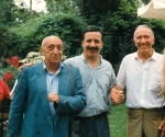1996 Pino Di Gennaro tra Francesco Leonetti e Alik Cavaliere