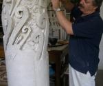 2005 Ritratto con il Modello dell'opera Pilastro del cielo