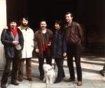 1995  Gli Artisti del Gruppo Atelier da sin. Antonio Miano Claudio Zanini Pino Di Gennaro Maria Jannelli Renato Galbusera e il cane Pippo