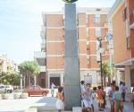 Monumento Alla Pace Troia (Fg)  Mercurio - 1997 Bronzo e pietra di Apricena
